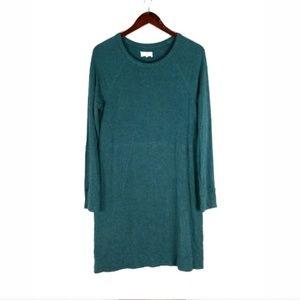 Lou & Grey teal soft knit long sleeve dress